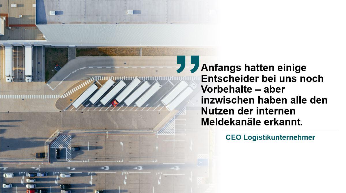 Zitat des CEO eines Logistik-Unternehmens